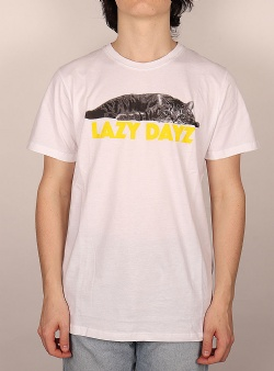Dedicated Lazy Dayz tee White