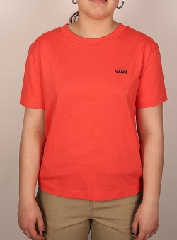 Vans Junior v boxy tee Hot coral