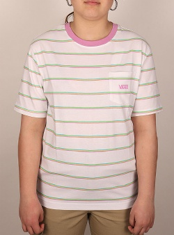 Vans Mini stripe pocket tee White