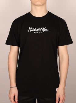 Mitchell and Ness Pinscript tee Black