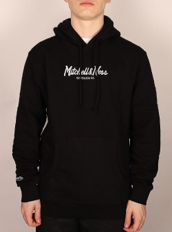 Mitchell and Ness Pinscript hood Black