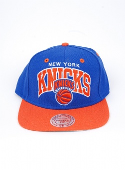 Mitchell and Ness Knicks team arch 2 tone snapback Blue