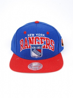 Mitchell and Ness Rangers team arch 2 tone snapback Blue